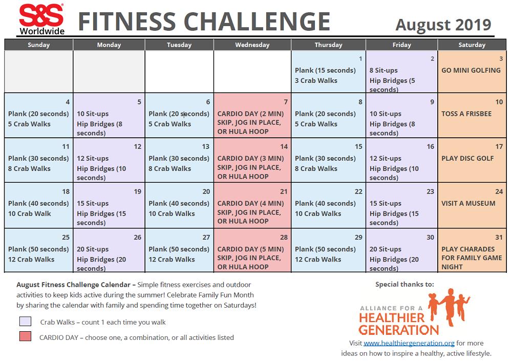 30 Day Fitness Calendar Printable - Printable Calendar inside 30 Day Fitness Calendar