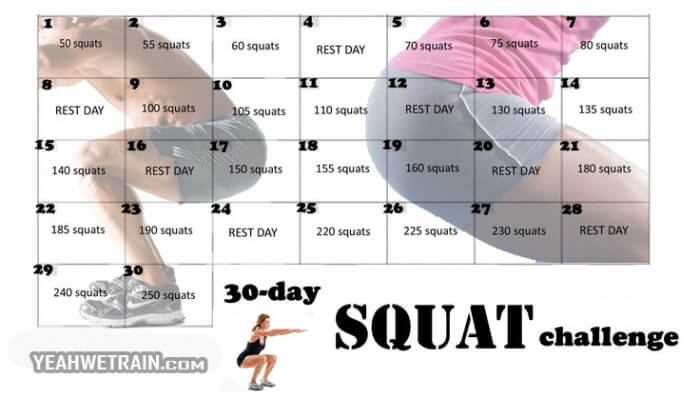 30 Day Squat Challenge - Healthy Fitness Exercise Butt throughout Butt And Leg Challenges