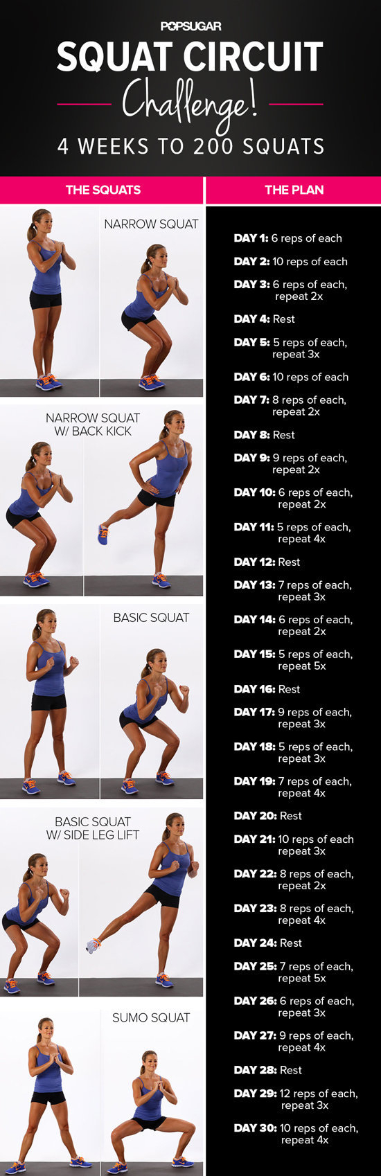 30-Day Squat Challenge throughout Butt And Leg Challenges