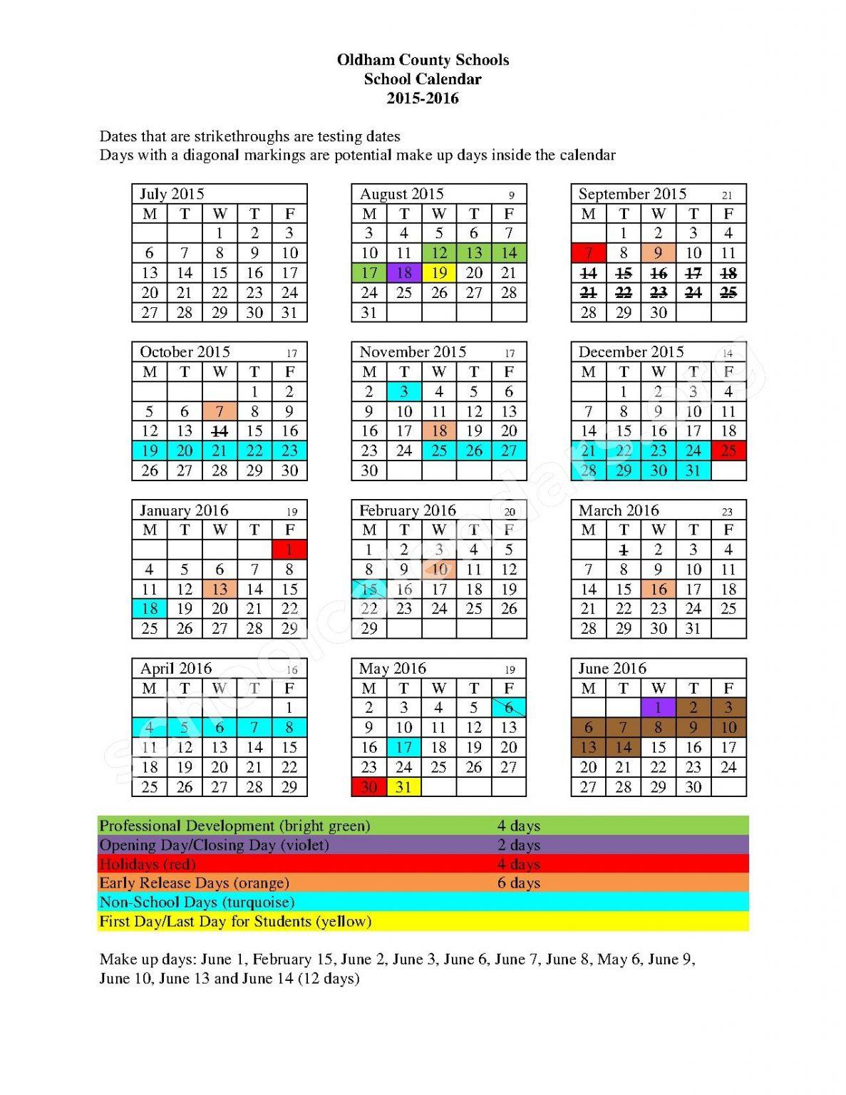 Aiken High School Sc Calendar For 2015 | Printable throughout Aiken County School Schedule