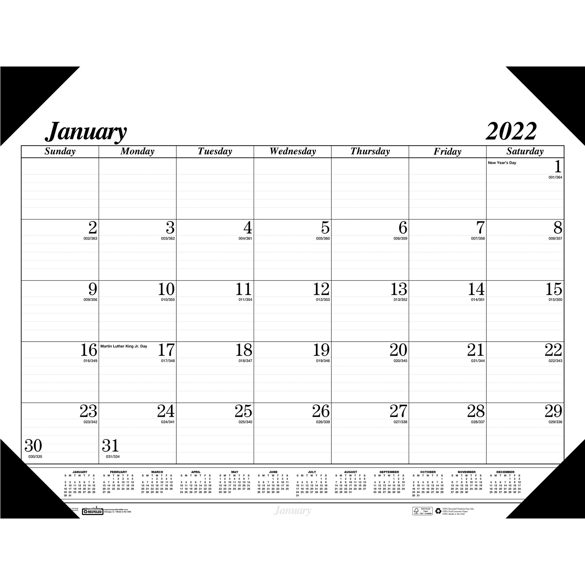 At-A-Glance Dayminder Monthly Planner - Julian Dates with regard to 2022 Calendar With Julian Dates Printable