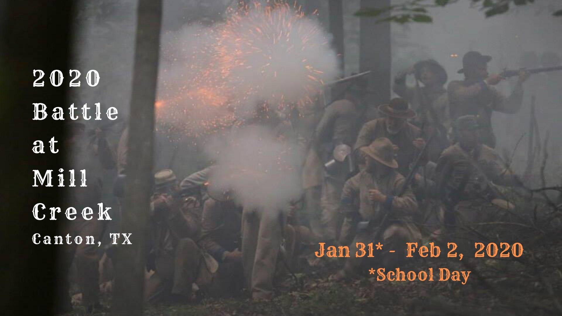 Battle At Mill Creek Canton - Civil War Reenactment regarding 1St Monday Canton Texas 2022 Calender