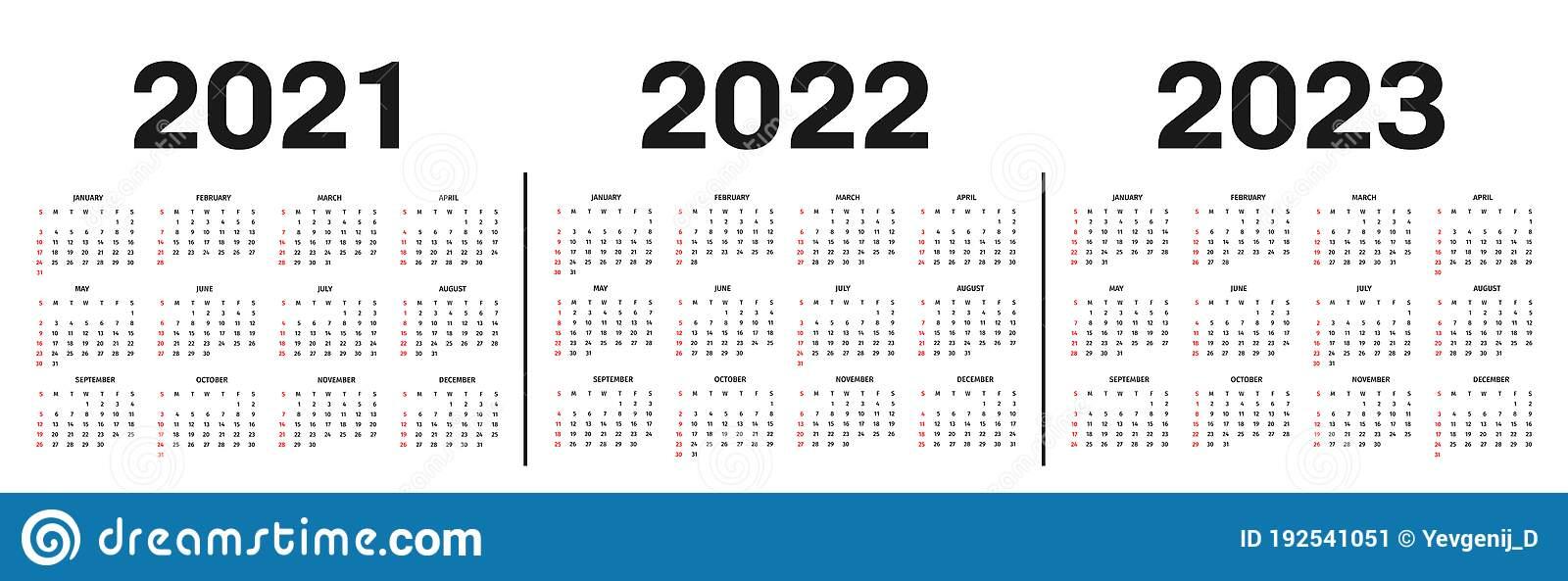 Calendar 2021, 2022 And 2023 Template. Calendar Template with 4 5 4 Retail Calendar 2022 2023