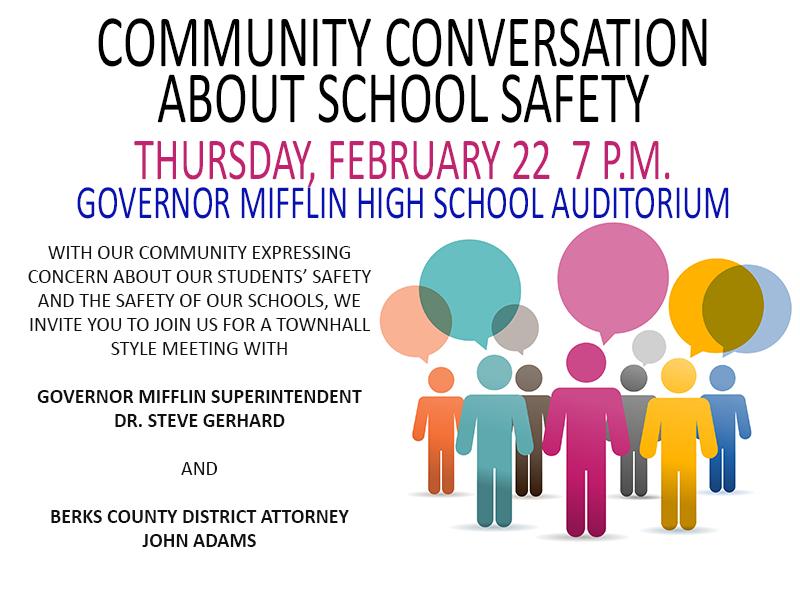 Community Conversation On School Safety - Governor Mifflin for Mifflin County School District Calendar