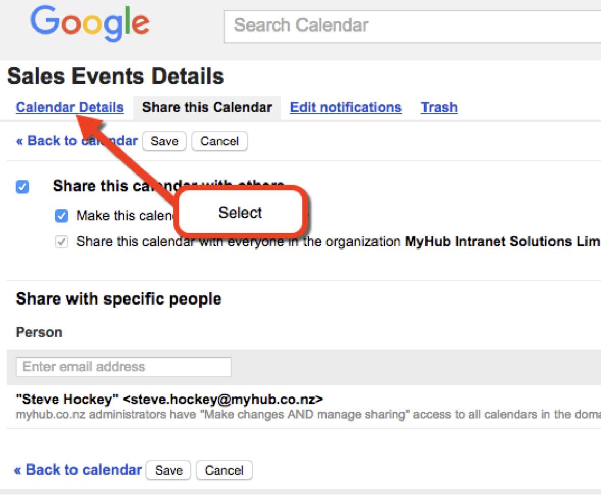 Embedding A Google Calendar - Myhub Intranet Help for Add Sunrise And Sunset To Google Calendar