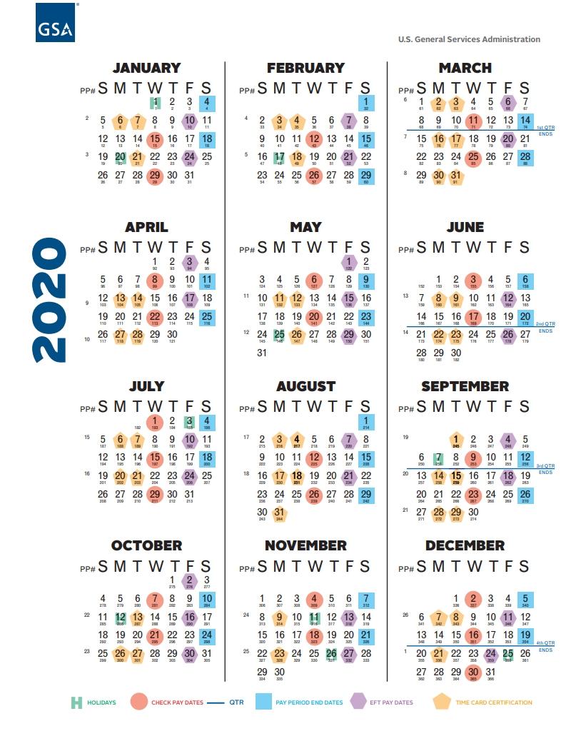 Federal Civilian Pay Periods 2020 - Calendar Inspiration throughout 2022 Federal Payroll Calendar Printable