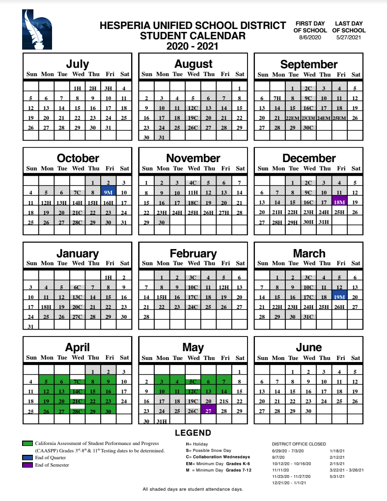 Fontana School District 12 Month Employee Calendar in Mifflin County School District Calendar