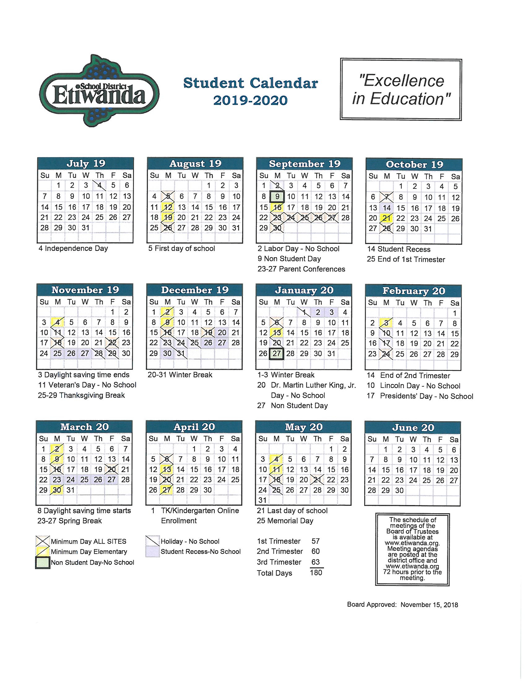 Fontana School District 12 Month Employee Calendar with Mifflin County School District Calendar