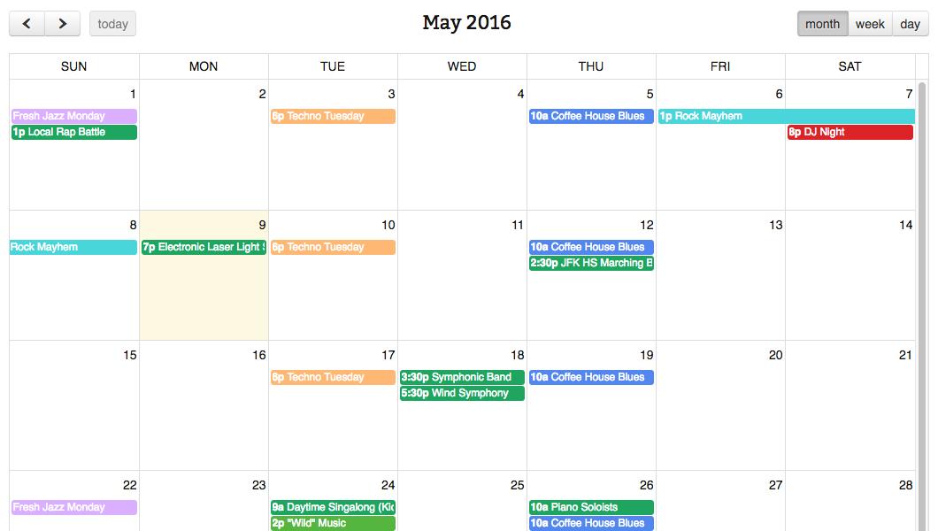 Fullcalendar - Simple Calendar with regard to Add Sunrise And Sunset To Google Calendar