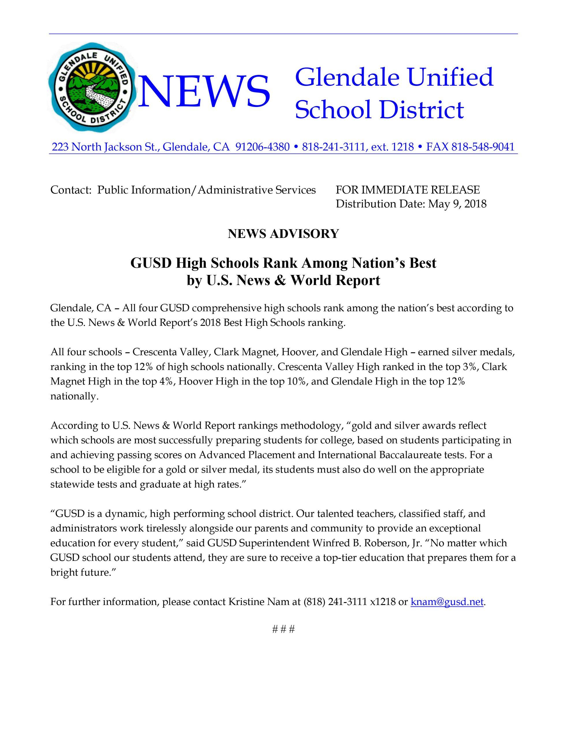 Glendale Unified School District Calendar | Printable within Mifflin County School District Calendar