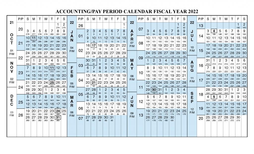 Payroll Calendar 2022 Fiscal Year Calendar [ Oct 2021 regarding Federal Payroll Calendar 2022