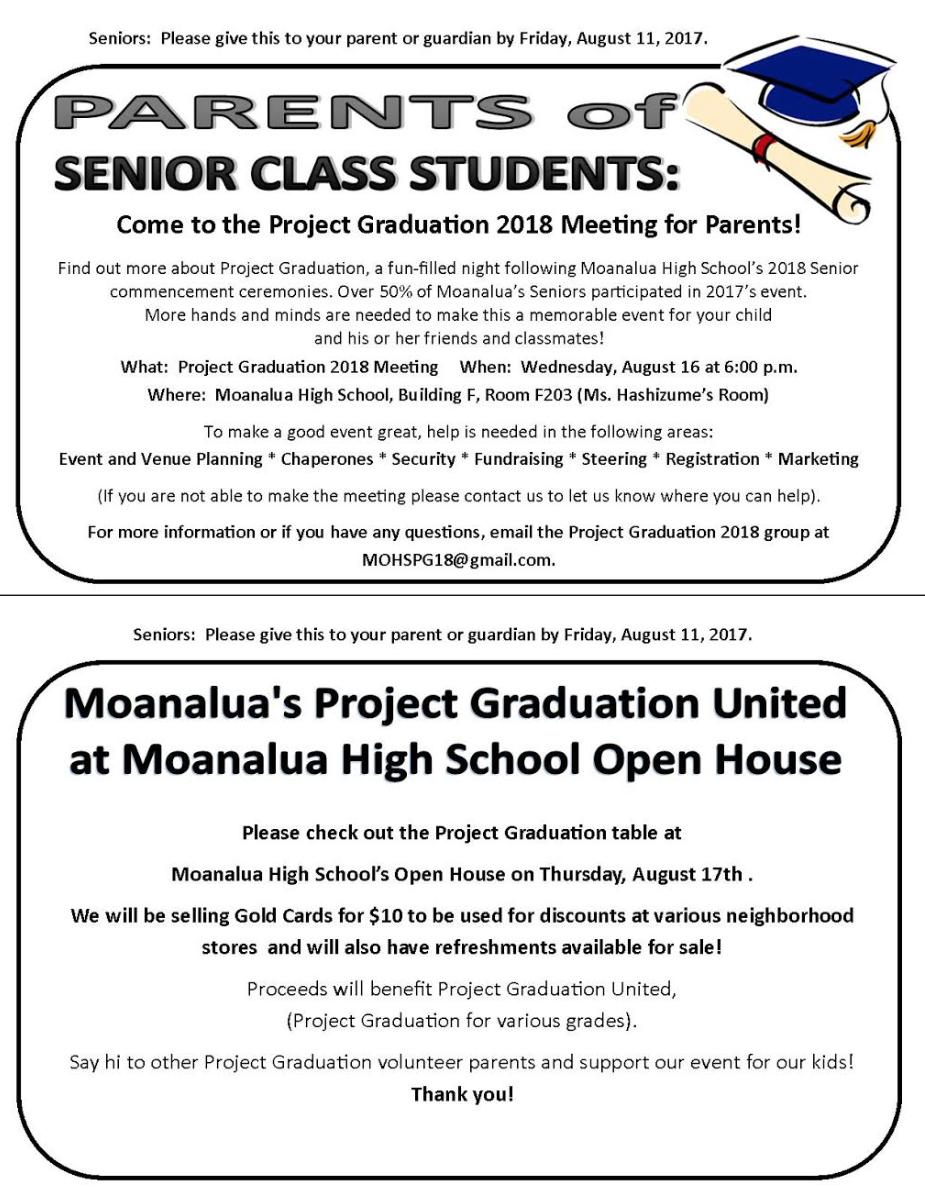 Pg 2018 - Moanalua Project Graduation United in Hawaii School Calendar 2022 2023