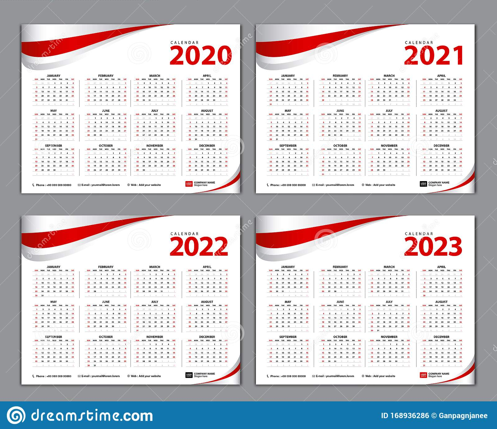 Simple Calendar Template For 2020, 2021, 2022, 2023 Years within 4 5 4 Retail Calendar 2022 2023