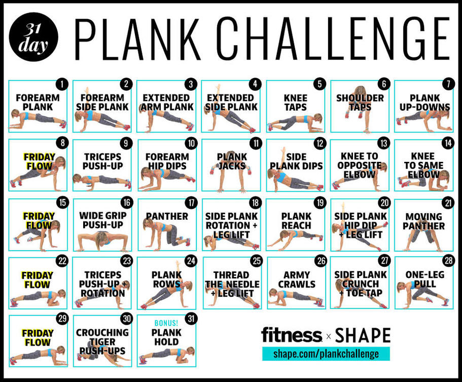 The Ultimate 30-Day Plank Challenge For Your Strongest in 30 Day Fitness Calendar