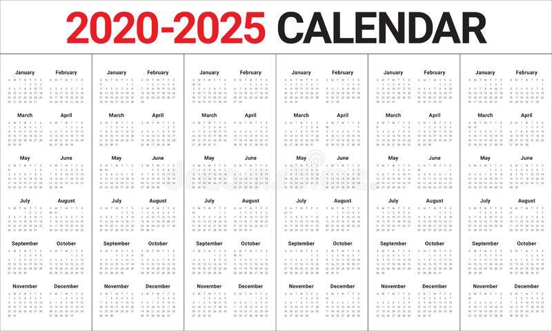 Year 2020 2021 2022 2023 2024 2025 Calendar Vector Design within 4 5 4 Retail Calendar 2022 2023